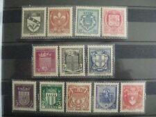 timbres français : armoiries de villes 1942 YT n° 553 à 564 *