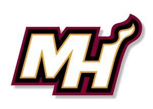 """Miami Heat """" MH """" Precision Cut Decal"""