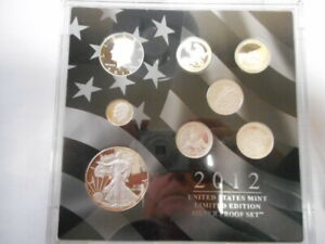 2012 U.S. Mint Ltd. Edition Silver Proof 8 coin set - MUST SEE