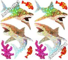 Sparkle Shark Coral Great White Water Sharks Hambly Studio Glitter Stickers