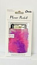 iDecoz Phone Pocket Stick On Phone or Case Unicorn Fur 5 Card Wallet