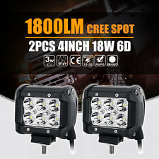 18W CREE 4INCH LED LIGHT BAR 2160LM SPOT BEAM OFFROAD WORK LAMP SAVE 27W/126W