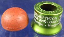 2 Vintage 1910's-60's Bottle Stoppers Lucky Bottle Cap Barberton, Oh Elizabethto
