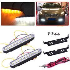 New Car 30 LED White Daytime Running Light Driving Lamp Turn Signal Strip