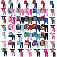 Kids Pyjamas Girls Boys Character/Football Childrens Pyjama Set Age 1-12 Years