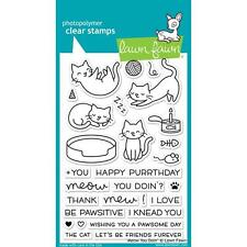 Lawn Fawn Photopolymer Clear Stamp Set ~ Meow You Doin ~   LF1315 Cats