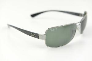Ray-Ban sunglasses RB 3379 004/58 64-15 130 3P Polarized glossy black/silver