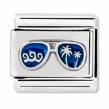 GENUINE Nomination Classic Silver Blue Sunglasses Charm 330202/48 / £18 RRP