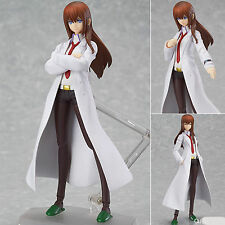 MAX Factory Figma 195 Steins;Gate Makise Kurisu White Coat ver. Figure Genuine