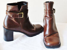 Expressions Womans Brown BoHo CHIC Ankle Bootie Boot Shoe Heel Sz 8.5