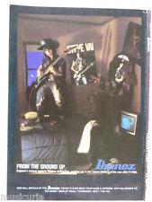 retro magazine advert 1991 IBANEZ steve vai