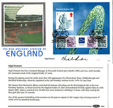 17 MAY 2007 WEMBLEY STADIUM M/SHEET SIGNED NIGEL PEARSON BENHAM FIRST DAY COVER