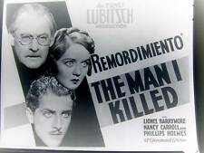NANCY CARROLL PHILLIPS HOLMES PROMO MAN I KILLED H520