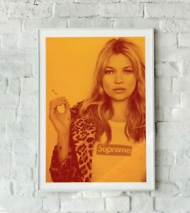 Kate Moss Print, Kate Moss Poster, Supermodel Art Print, Wall Art, Supreme Art