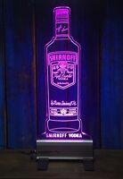 Smirnoff Vodka Bottle LED Sign,Edgelit,Bar,Mancave,Led,Remote Control,Light