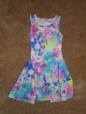 Girls Justice Purple/Blue Floral Dress Size 8