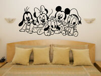 Baby Disney Characters Mickey Minnie Nursery Children's Decal Wall Art Sticker