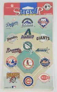 NIP Sticker World MLB Major League Baseball team logo stickers set 2 Sheets 1997