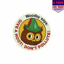 Woodsy The Owl 4 Stickers 4X4 Inch Sticker Decal