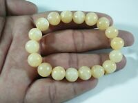 Yellow calcite beaded bracelet  Stretch Elastic  size  8 mm