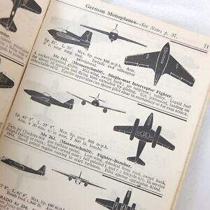 WW2 RAF AIRCRAFT RECOGNITION MANUAL RAID SPOTTERS NOTE BOOK JET FIGHTERS Me 262