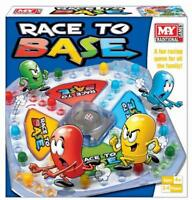 NEW M.Y RACE TO BASE POP A DICE FRUSTRATION FUN FAMILY KIDS BOARD GAME