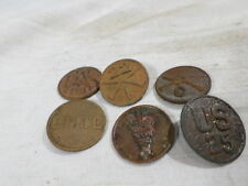 WWI VINTAGE US Army Collar Disc Lot