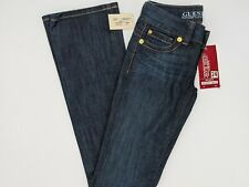 Guess Stretch Low Rise Boot Cut Jeans Size 24 Flare Authentic Denim Dry Goods