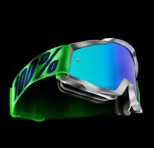 100% Gafas Cross Accuri de Espejo Nova Mx Gafas Blanco Verde Motocross Enduro