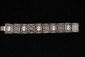 Armband mit Gemmen, Silber vergoldet sehr guter Zustand 55843