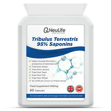 Tribulus Terrestris 95% Saponins 500mg x 60 Capsules Testosterone Booster