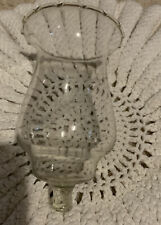 """Homco Home Interiors Wheat etched Candle Votive Cup 5"""" Tall No Chip & No Peg"""