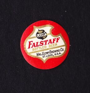 RARE Pre-Pro FALSTAFF BEER seal from LEMP BREWERY in St. Louis MISSOURI !!