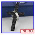 Colgante Mujer Hombre Collar De Acero Moda Colgantes Cruz Necklace Regalo mk
