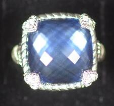 Judith Ripka Sterling Ring Corundum and Diamonique Ring, Size 6, Ships for Free