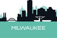 Milwaukee Wisconsin Skyline Art Print Poster 18x12 inch