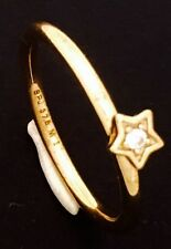 "9ct Yellow Gold ""Spinning""  Brand ""Star"" CZ Stackable Ring  NOT PLATED"