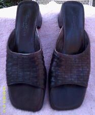 """Cole Haan """"City"""" Dark Brown Basket Weave Sandals 8 AA"""