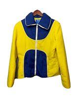 Snuggler Ski Wear Vtg Jacket Color Block Retro 80s 90s Zip Women's Jacket XL EUC
