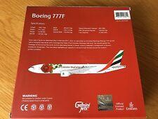 EMIRATES with LOVE ROSE  Boeing 777-F Sky Cargo DIECAST METAL Model Gemini 1:400
