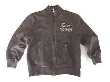 ☆Jacke Sweatjacke Shirtjacke 128 XS s.oliver dunkel braun Hoodie Zipper Boys 122
