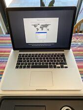 """Macbook Pro 15"""" retina mi-2015 - I7, 16go RAM, 256go SSD"""