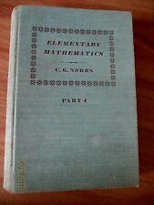 Elementary mathematics Part 4  C G Nobbs 1957