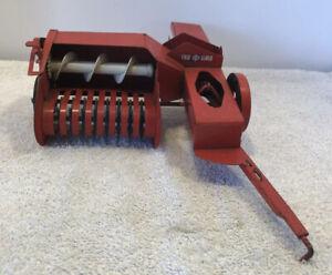 1960's TRU-SCALE- Hay Baler -Red Metal Farm Toy Pressed Steel