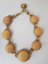 Butler & Wilson Vintage Gold Round Link Necklace