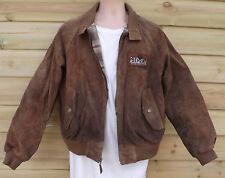 Heavy Suede Bomber Jacket ~ XL - Wasteland Post Apo Look - Ralph Lauren - Polo?