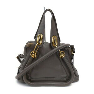 Chloe Hand Bag  Grays Leather 1529077