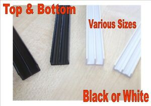 Vivarium glass runners track top & bottom 3.5mm 4.0mm 6.0mm black or white