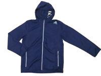 new adidas ULTIMATE FULL-ZIP WOVEN JACKET men's L navy blue base hoody shirt run