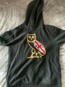 OCTOBERS VERY OWN UNION JACK HOODIE L DRAKE UK OPENING EXCLUSIVE OG GOLD OWL